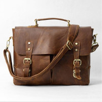 Casual Canvas and Genuine Leather Messenger Bag Lenght