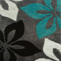 LO LA 009 Modern Gray Hand Tufted Shag Area Rug 100% Polyester