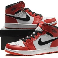 Big Size To Special You! Nike Air Jordan 1 Retro Aj1 White/black/red Size Us 14 15 16 - Beauty Ticks