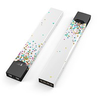 Colorful Falling Confetti Over White - Premium Decal Protective Skin-Wrap Sticker compatible with the Juul Labs vaping device
