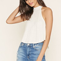 High-Neck Ribbed Top