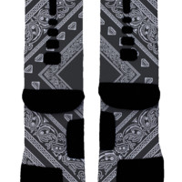 Black Bandana Custom Nike Elites