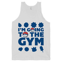 Going to the Gym - Nerdy, Fitness Shirt, Workout Tank Top, Geek, Pokemon, Gym, American Apparel.