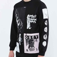 OBEY Punk's Not Dead Long-Sleeve Tee- Black
