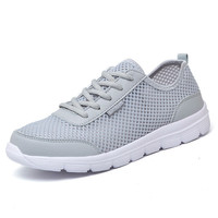 Casual Lace Up Breathable Mesh Summer Shoes with Light Flats