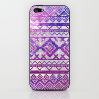 Aztec Tribal Diamond Pattern Pink Nebula Galaxy Space iPhone & iPod Skin by Girly Trend | Society6