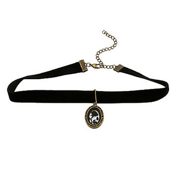 Disney Beauty And The Beast Enchanted Rose Velvet Choker
