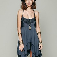Free People Womens Pieced Lace Tunic -