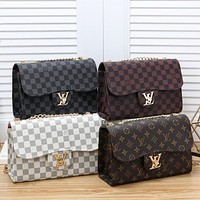 Louis Vuitton LV women's canvas chain bag shoulder bag
