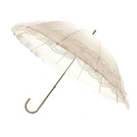 Lolita Double-layer Lace Sunscreen Umbrella Long Ultraviolet-proof  white
