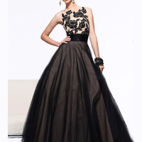 High Neckline Prom Ball Gown With Ruched Waist Sherri Hill 21134