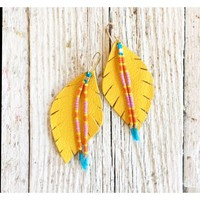 Three Little Indians - Small Mustard with Beads