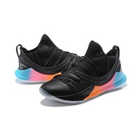 Under Armour Curry 5 Black Blue Pink Orange Men Sneaker