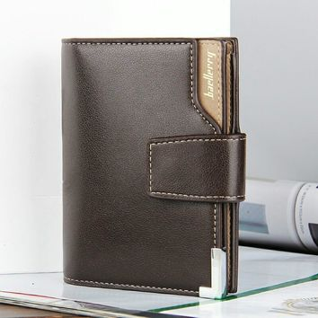 brand Wallet men leather men wallets purse short male clutch leather wallet mens money bag quality guarantee