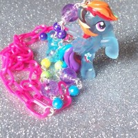 My Little Pony Neon Rainbow Dash Necklace from On Secret Wings