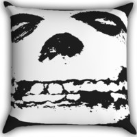 The Misfits Zippered Pillows  Covers 16x16, 18x18, 20x20 Inches