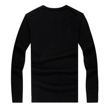 Autumn Winter Pullover Sweater For Men Brand Clothing Jumpers Jacquard Christmas Slim Fit
