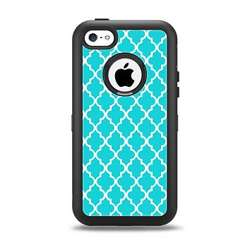The Morocan Teal Pattern Apple iPhone 5c Otterbox Defender Case Skin Set