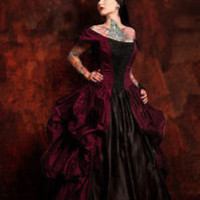 Bustle Dress Gown Steampunk Goth Victorian Many Colors Corset SALE