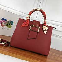 prada women leather shoulder bags satchel tote bag handbag shopping leather tote crossbody 201