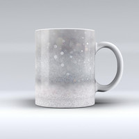 The Unfocused Grayscale Glimmering Orbs of Light ink-Fuzed Ceramic Coffee Mug