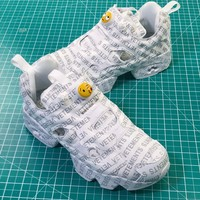 Vetements X Reebok 2018 Instapump Fury Og White All Logo Sneakers - Best Online Sale