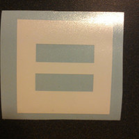 5-pack! Equal Sign Vinyl Decal Sticker, 5 per Pack