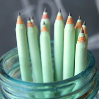 5 Piece Mint EcoFriendly Recycled Paper Pencil by WriteWithMoxie