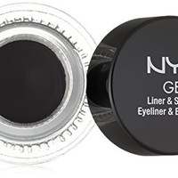 NYX Cosmetics Gel Eyeliner and Smudger, Betty, Jet Black, 0.11 Ounce