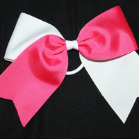 Two tone cheer bows