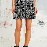 Pins & Needles Lace Skater Skirt in Mono - Urban Outfitters