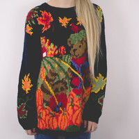 Vintage Pumpkin Party Ugly Halloween Sweater