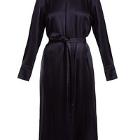 Gracie band-collar satin dress | Osman | MATCHESFASHION.COM UK