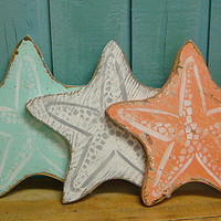 Starfish Sign Beach House Decor Art Nautical Coastal Seaside