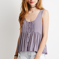 Buttoned Babydoll Top