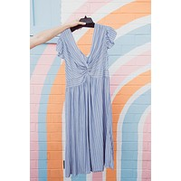 Line By Line Dress, Blue | Plus Size
