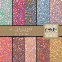Two Toned Glitter Color Variety Digital Paper 10 pack