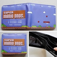 Super Mario party nes switch 2018 Game Nintendo  BROS. Logo wallets Purse Multi-Color 12 cm Leather W138 AT_80_8