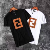 FENDI FF Men Womens Cotton T-shirt
