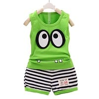 Baby Boy Summer Clothing Set baby tops Vest Shorts pants Children Kids sport suit toddler Tracksuit Set Boys Clothing