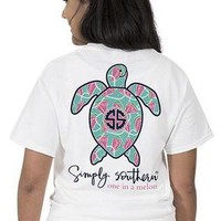 Simply Southern Save The Turtles Tee - White