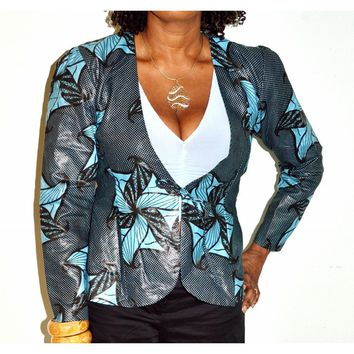 Black And Blue Womens Jacket