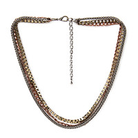 FOREVER 21 Mixed Chain Necklace Burn.G./Gunmetal One