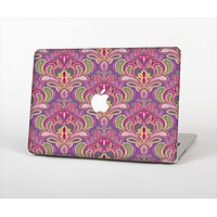 The Pink and Green Paisley Seamless Pattern Skin Set for the Apple MacBook Air 13""