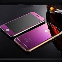 iPhone 6 Screen Protector Front Back Mirror Tempered Glass Film Screen Protector...