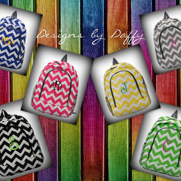 Personalized Chevron Backpack - Monogrammed
