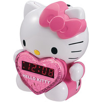 HELLO KITTY KT2064 AM/FM Projection Clock Radio