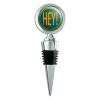 Hey Casual Hello Greeting Wine Bottle Stopper