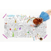Food Fight Jumbo Coloring Poster | Kids Food Coloring Poster