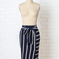 Riley Striped Midi Skirt-FINAL SALE